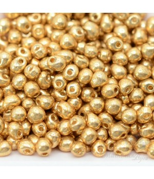 Бисер Miyuki Drops 4202 Duracoat Galvanized Gold, 10 грамм