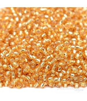 Бисер круглый 0003 11/0 S/L Gold, 5 грамм