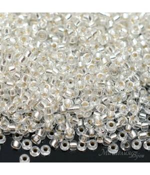 Бисер круглый 0001 11/0 S/L Crystal, 5 грамм