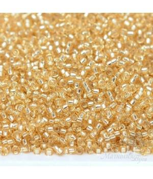Бисер круглый 0003 15/0 S/L Gold, 5 грамм