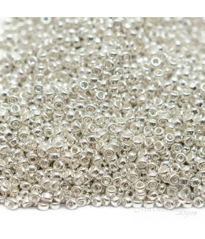 Бисер круглый 0961 15/0 Silver Plated, 5 грамм