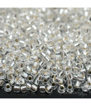 Бисер круглый 0001 8/0 S/L Crystal, 5 грамм