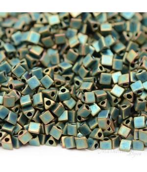 Треугольный бисер Sharp Triangle 10/0 2008 Matte Metallic Patina Iris, 5 грамм