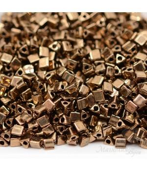 Треугольный бисер Sharp Triangle 10/0 457 Metallic Dark Bronze, 5 грамм