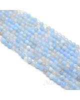 Голубой агат(сапфирин), 4мм, нить(85 бусин)