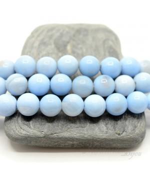 Голубой агат(сапфирин), 10мм, 5 штук