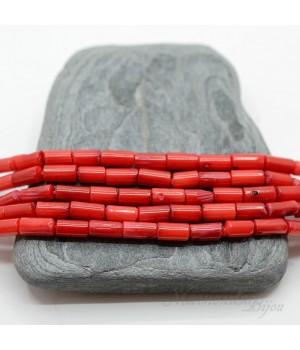 Коралл красный бочонок 4:8мм, 10 штук