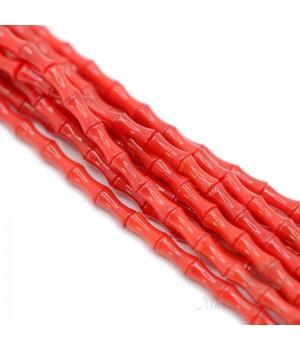 Коралл Бамбук 4:8мм красный, нить 39см