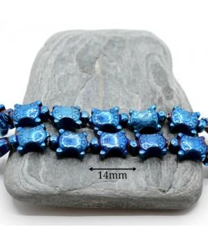 """Гематит """"Черепашки"""" с титановым покрытием цвет синий, 2 штуки"""