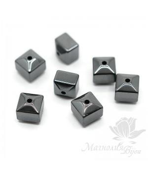 Гематит куб огранка 6мм, 10 штук