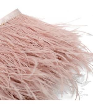 Перья страуса на ленте Royal Pink, 10см