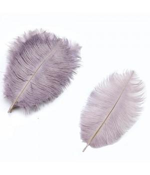 Перо марабу 15-20см, цвет сиреневый