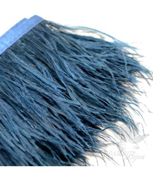 Перья страуса на ленте Navy Blue, 10см