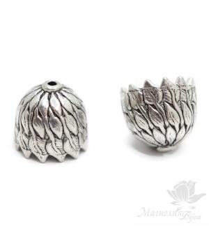 """Колпачок """"Шелест листвы"""", античное серебро"""