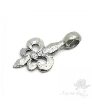 """Подвеска """"Королевская лилия"""", античное серебро"""