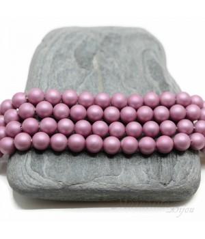 Жемчуг Майорка 6мм розовый фламинго матовый сатин, 10 штук