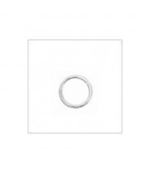 Колечки соединительные 6мм серебро 925 пробы(4325), 5 штук