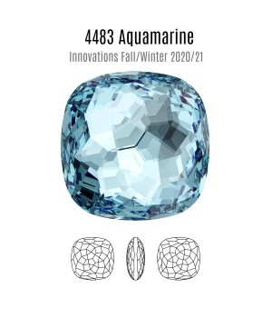 4483 Fantasy Cushion 14мм, цвет Aquamarine