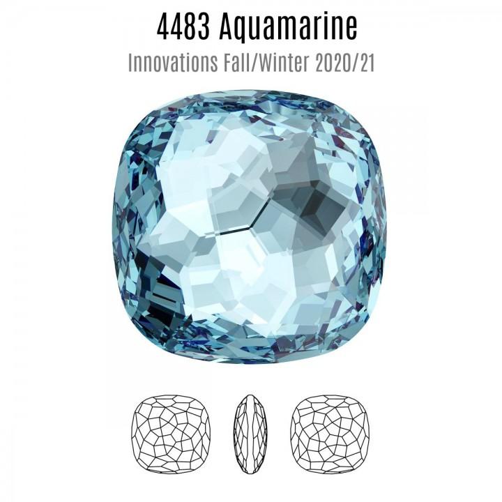 4483 Fantasy Cushion 14мм, цвет Aquamarine