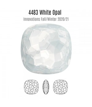 4483 Fantasy Cushion 14мм, цвет White Opal