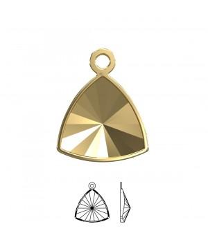 4799/J Оправа-подвеска для Kaleidoscope Triangle 14:14.3мм, томпак/позолота