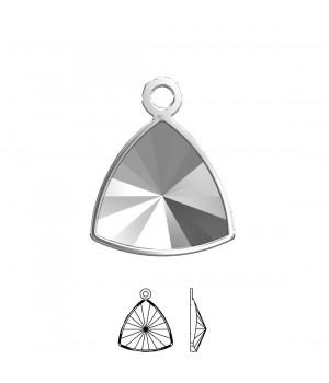 4799/J Оправа-подвеска для Kaleidoscope Triangle 14:14.3мм, томпак/родий