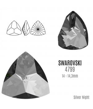 4799 Kaleidoscope Triangle 14:14.3мм, цвет Silver Night