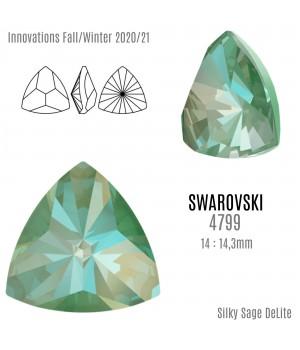 4799 Kaleidoscope Triangle 14:14.3мм, цвет Silky Sage DeLite