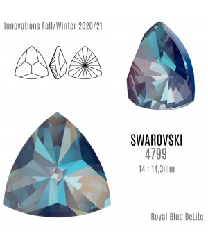 4799 Kaleidoscope Triangle 14:14.3мм, цвет Royal Blue DeLite