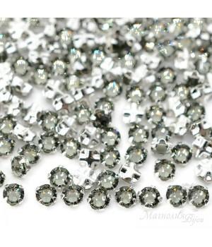53100 Rose Montees SS12 Black Diamond, 20 штук