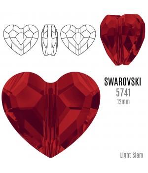 5741 Бусина Love Bead 12мм, цвет Light Siam