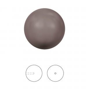 Жемчуг Swarovski 12мм Brown(815) полупросверленный, 1 штука