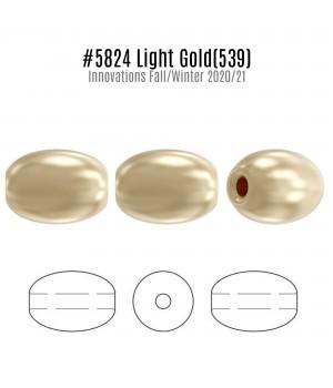 Жемчуг Swarovski рис 4мм Light Gold(539), 20 штук