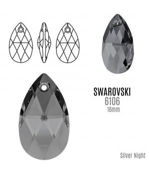 6160 Подвеска Pear-shaped 16мм, цвет Silver Night