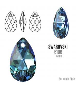 6160 Подвеска Pear-shaped 16мм, цвет Bermuda Blue