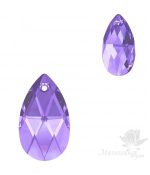 6106 Подвеска Pear-shaped 16мм, цвет Tanzanite