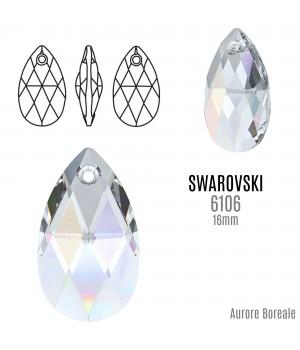 6160 Подвеска Pear-shaped 16мм, цвет Aurore Boreale(AB)
