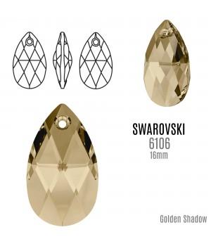 6160 Подвеска Pear-shaped 16мм, цвет Golden Shadow