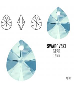 6128 Подвеска Mini Pear 12мм, цвет Aquamarine