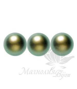 Жемчуг Swarovski 10мм Iridescent Green(930), 5 штук