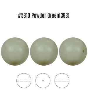 Жемчуг Swarovski 10мм Powder Green(393), 5 штук