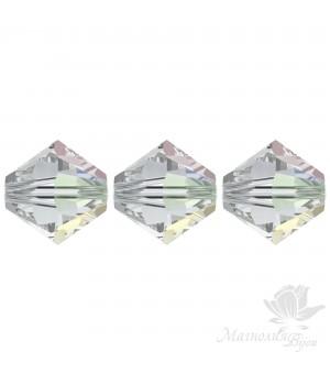 Биконусы Swarovski 3мм Crystal AB(001), 20 штук