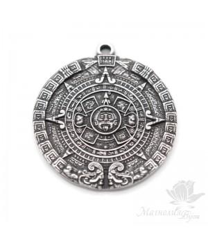 Медальон Майя 31мм, Zamak посеребрение