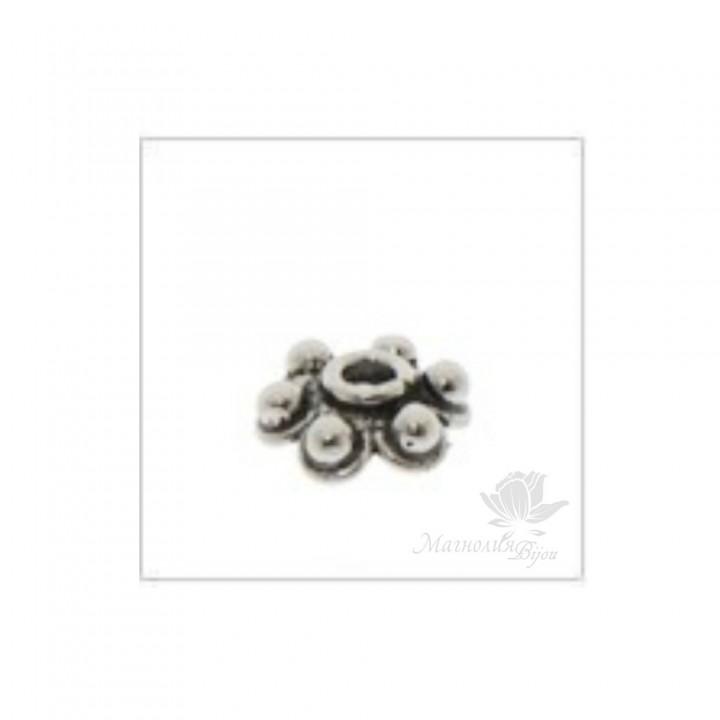ШАПОЧКА серебро 925 пробы, 6мм(2029)