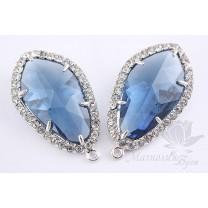 """Цена СНИЖЕНА на 20%!!! Подвеска """"Blue Sapphire Lux"""", родиевое покрытие"""