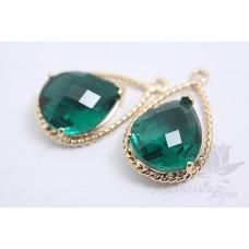 """Подвеска """"Emerald Glamour"""" позолота"""