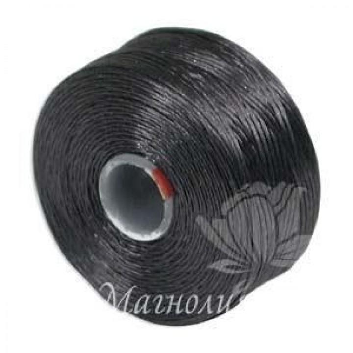 Нить для бисера S-Lon AA, Charcoal Grey