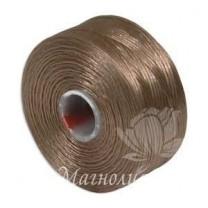 Нить для бисера S-Lon, Light Copper