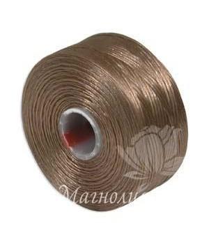 Нить для бисера S-Lon AA, Light Copper