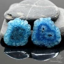 КВАЦЕВЫЙ СРЕЗ(сталактит) с отверстием, синий 30мм